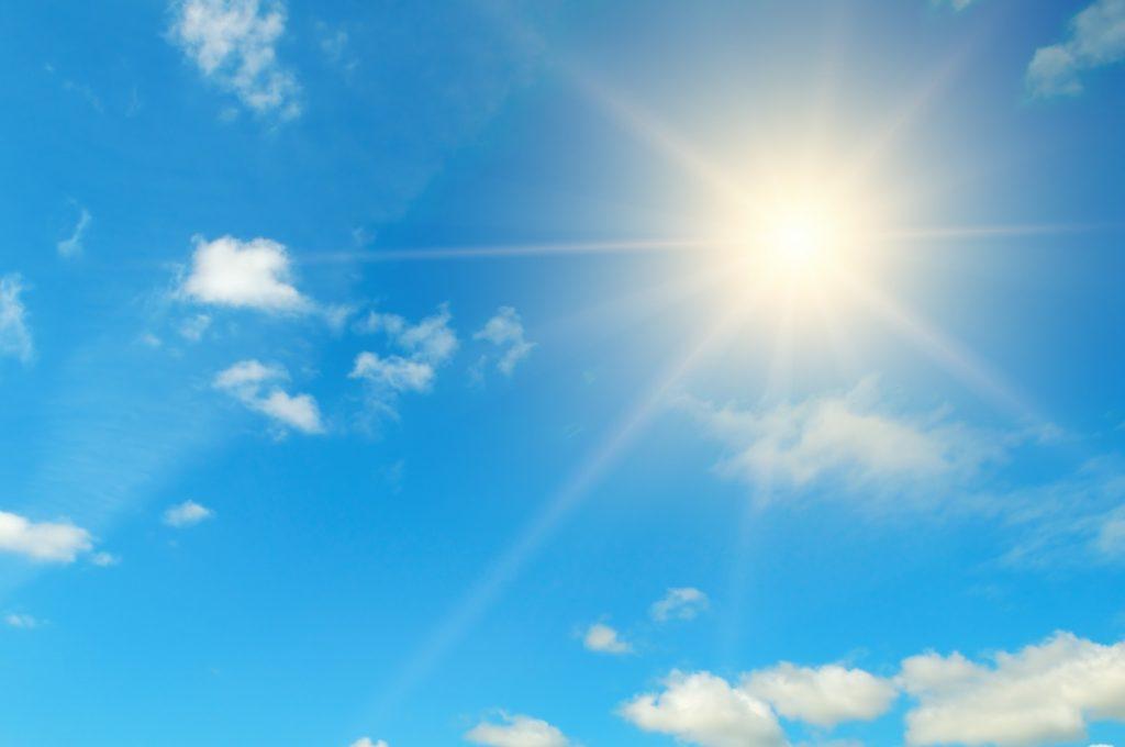 Participio passato di splendere - Il sole splende come non ha mai